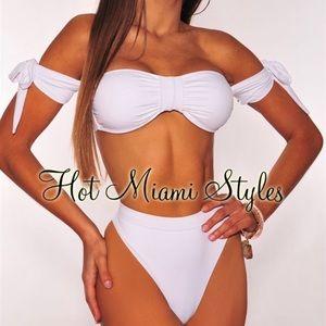 Hot Miami styles white swim set